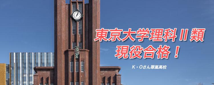 東京大学理Ⅱ類現役合格